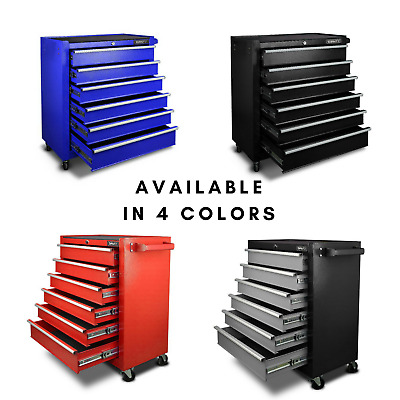 New TOOL BOX CHEST TOOLBOX CABINET Storage Mechanic Portable Rolling 6 Drawers