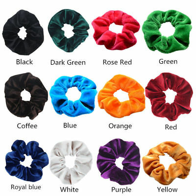 Hair Accessories Velvet Scrunchies Ponytail Holder Elastic Hair Band Lot