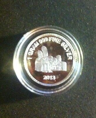 """New 2013 """"The Simpsons"""" 1 Gram 999.0 Pure Silver Bullion Coin (Great Investment)"""