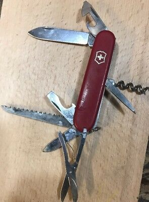 Vintage Victorinox 91MM Climber Small Swiss Army Knife - Officer Suisse