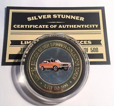 NEW XU1 Holden Torana Colour Silver Stunner Coin with C.O.A. LTD 500