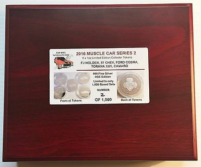 2016 Boxed Set of 5 x 1oz  Muscle Car Series 2 Coins Silver HSE Eddition LTD 1k