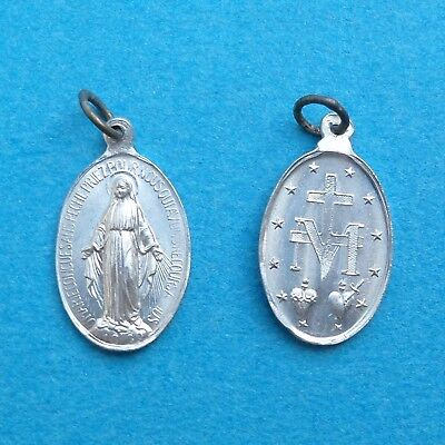 French, Antique Religious Pendant. Saint Virgin Mary, Miraculous Medal.