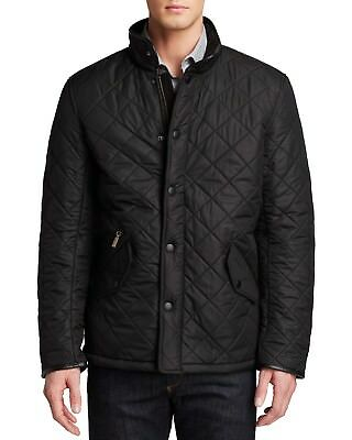 BARBOUR 'Powell' Quilted Jacket Black Men's XLL