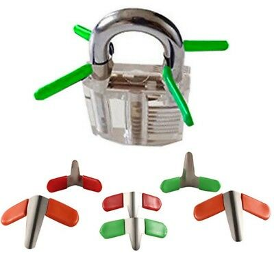 6/10PCS Padlock Shim Set Lock Opener Unlock Accessories Tool Kit Without Lock