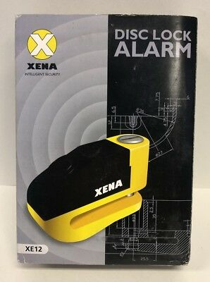 Xena Disc Lock Alarm XE12 - Motorcycle/Scooter Lock - Yellow - New