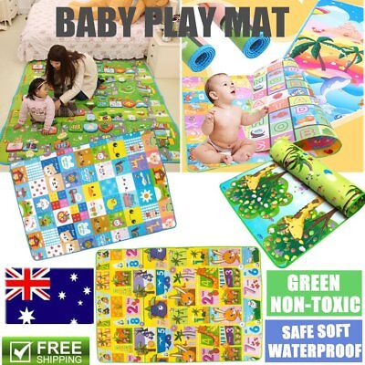 Child Infant Baby Kids Crawling Game Waterproof Floor Play Mat Rug Double-Side B