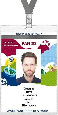 Fan ID Pass for World Cup 2018 Russia
