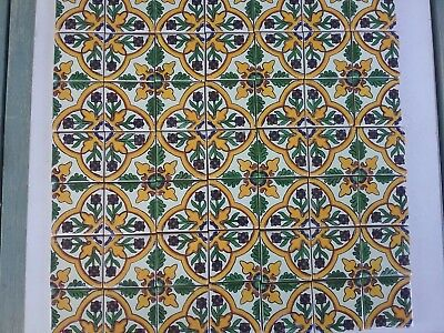 MEXICAN TALAVERA TILES x 50 ( 5cm x 5cm each )