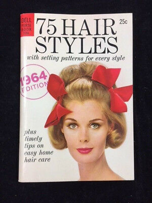 1964 Dell Purse Book, 75 Hair Styles, With Setting Patterns For Every Style