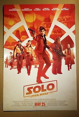 SOLO A STAR WARS STORY Theatrical Domestic Payoff Movie Poster 27x40 Disney