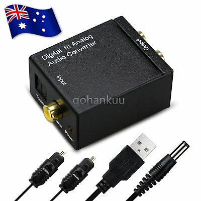 RCA Digital Optical Coax Coaxial Toslink to Analog Audio Converter Adapter G NC