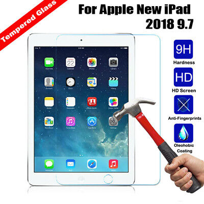 100% Genuine Tempered Glass Screen Protector For Apple New iPad 2018  9.7Inch