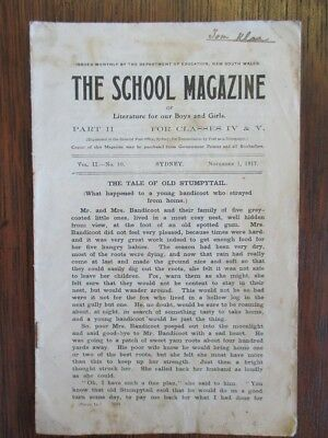 School Magazine NSW Dept of Education November 1917