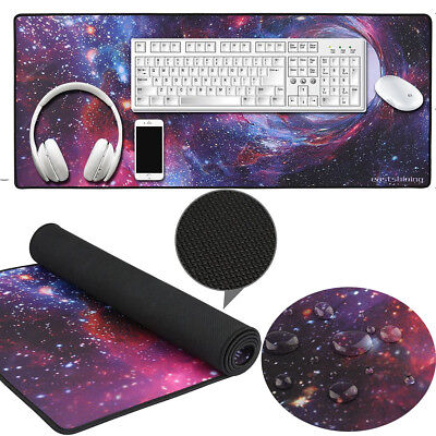 Gaming Mauspad XXL Anti-Rutsch Mousepad (900 x 400 mm),, Mousepad Design:Space
