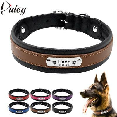 Dog Collar Personalized Collar For Big Large Dogs Customized Engraved Pet ID Tag