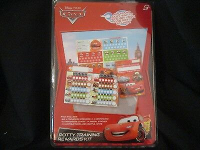 Disney Pixar Cars Potty / Toilet Training Rewards Chart Kit -Brand New-