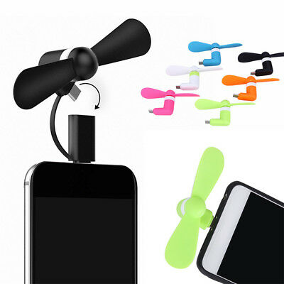 2 In 1 Mini Portable Fan Low Power USB Phone Fan Cooler For iphone Android