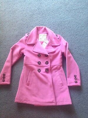 Girls Pumpkin Patch -Size 8 Pink Double Breasted Jacket-Coat Brand New With tags