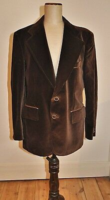 Vintage MENS Brown Velvet CORTEFIEL Jacket  40S