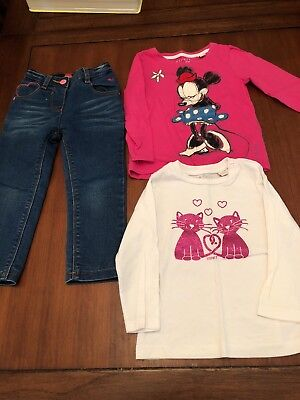 Esprit Girls Size 2 Jeans And Long Sleeve Tops Mini Mouse