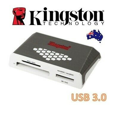 Kingston High-Speed Media Card Reader USB 3.0 Support CF SD Micro SD Memory HS4