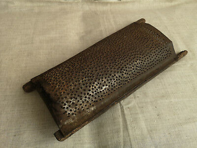Antique primitive punched tin grater country farm grater