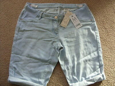 SALE** NEW** NEXT MATERNITY LIGHT DENIM SHORTS ~ 8 L rrp £26!