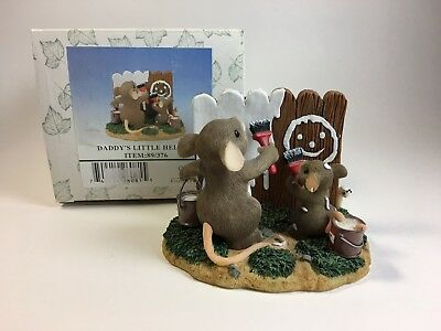 Fitz and Floyd Charming Tails Mice Figurine Daddy's Little Helper 89/376