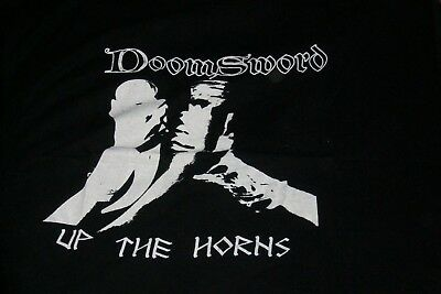 Doomsword-Up The Horns Shirt-Offical By The Band 2003-Large-Kit