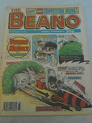 VINTAGE BEANO COMIC COLLECTABLE BIRTHDAY ANNIVERSARY GIFT 2666 AUGUST 21st 1993