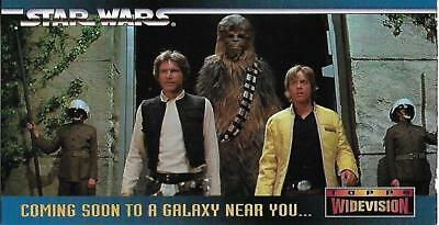 Star Wars ANH Widevision Rare Binder Promo Card #00 - TOPPS 1995