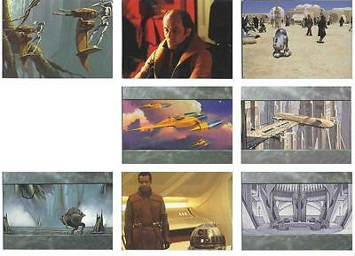 Star Wars Episode 1 Widevision 8 Promo Card Lot SW1 - SW & SW9 TOPPS 2000