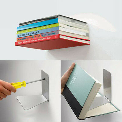Set of 1 Conceal Invisible Bookshelf Wall Mounted Floating Shelves Storage US