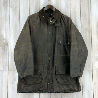 Vintage Barbour Solway Zipper A98 Brown Wax Waxed Jacket Coat MADE IN ENGLAND XL