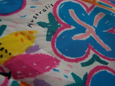 Vintage 'Australis' scarf inspired by the artwork of Ken Done