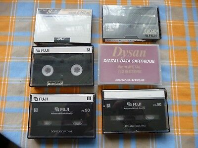 6 used 8mm video cassette  tapes