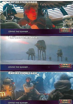 The Empire Strikes Back Widevision Rare 3-up panel Promo Card - TOPPS 1995