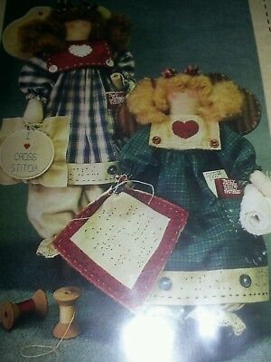 Bless my Stitchin Heart cloth doll pattern by Hickory grove farms