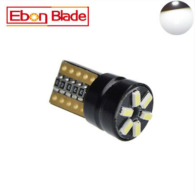 4PCS CANBUS T10 Wedge 6SMD Parker Number Plate LED Bulbs W5W 194 168 131 WHITE