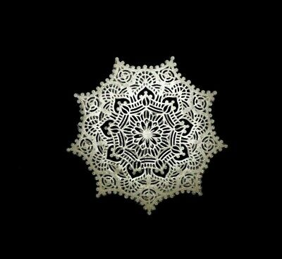 6 EDIBLE Sugar Lace DOILIES - READY TO USE DOILIES
