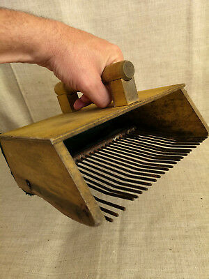 Primitive Vintage rake to pick blueberries Lithuanian Europe