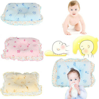 Newborn Baby Infant Pillow Head Syndrome Anti Flat For Cot Crib Bed Neck Support