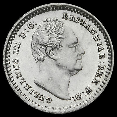 1834 William IV Milled Silver Three-Halfpence, A/UNC