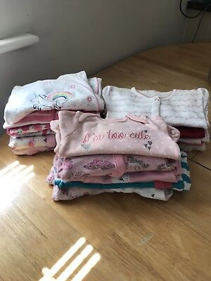 Huge Baby Girl 0-3 Month Bundle Next, Mothercare, H&M And Many More