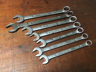 Vintage Sidchrome Metric Combination Spanners (7) Australian Made 12- 19mm