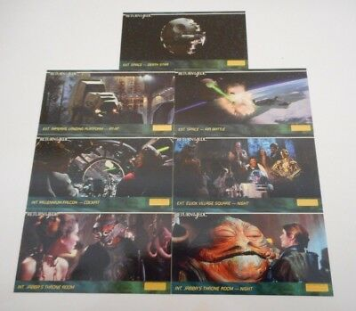 7 x STAR WARS RETURN OF THE JEDI WIDE VISION TRADING CARDS-TOPPS 1995-FREE POST