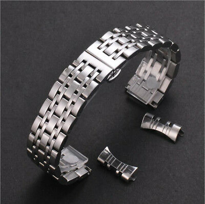 Stainless Steel Metal Curved Bracelet Clasp Replacement Watch Band Strap