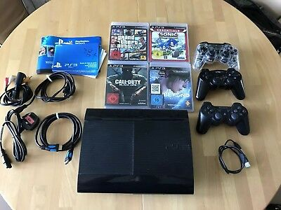Sony Playstation 3..500Gb..4 Spiele..3 Controller