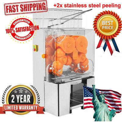 Electric Commercial Orange Juicer Squeezer Lemon Juice Machine Stainless Press